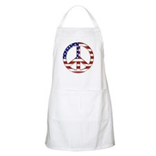 Peace sign American flag BBQ Apron