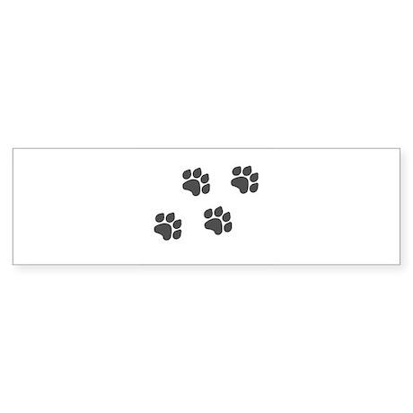 Black Paw Prints Sticker (Bumper)