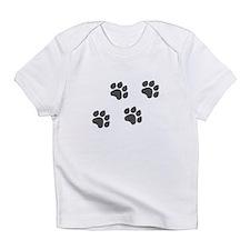 Black Paw Prints Infant T-Shirt