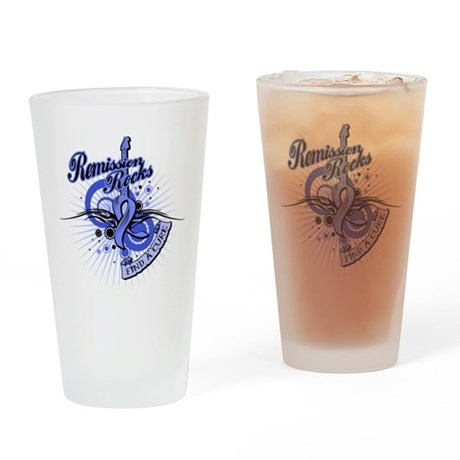 Stomach Cancer Remission ROCK Drinking Glass