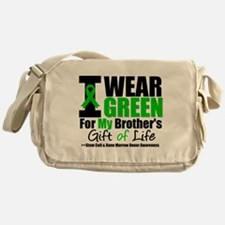 I Wear Green For My Brother Messenger Bag