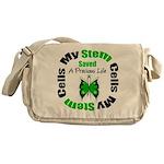 Stem Cells Saved Life Messenger Bag