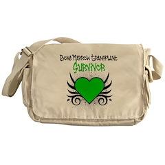 BMT Survivor Grunge Heart Messenger Bag
