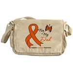 Leukemia Ribbon Dad Messenger Bag