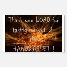 Hell in a Handbasket Rectangle Decal