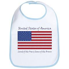 American Flag Bib (T-SHIRTS AVAIL. TOO!!!)