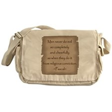 Pascal Quote Messenger Bag