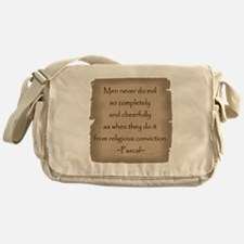 Pascal Quote Messenger Bag