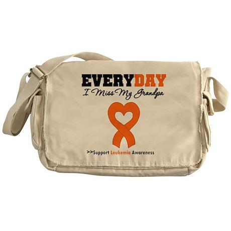 Leukemia MissMyGrandpa Messenger Bag
