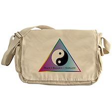 Peace, Balance, Namaste Messenger Bag