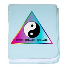 Peace, Balance, Namaste baby blanket