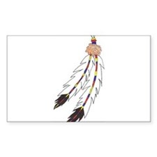 Feather Rectangle Decal