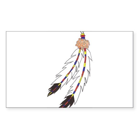 Feather Rectangle Sticker