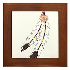 Feather Framed Tile