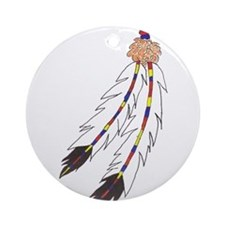 Feather Ornament (Round)