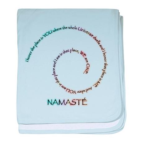 Meaning of Namaste baby blanket