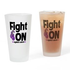 Fight On Pancreatic Cancer Drinking Glass