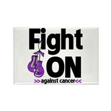 Fight On Pancreatic Cancer Rectangle Magnet (10 pa