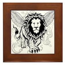 Lion of Judah Framed Tile