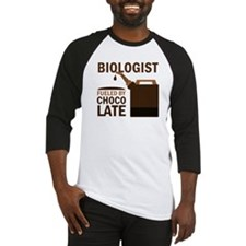 Biologist Chocoholic Gift Baseball Jersey