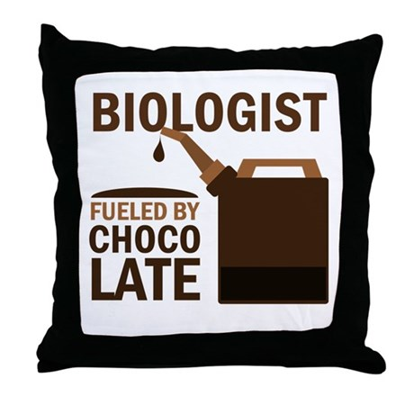 Biologist Chocoholic Gift Throw Pillow