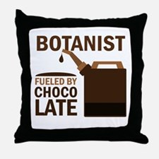 Botanist Chocoholic Gift Throw Pillow