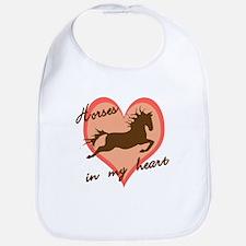 horses in my heart (w/ text) Bib