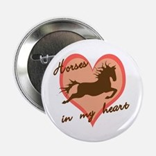 horses in my heart (w/ text) Button