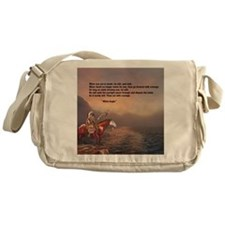 Go Forward With Courage Messenger Bag