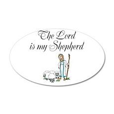 The Lord is my Shepherd 22x14 Oval Wall Peel