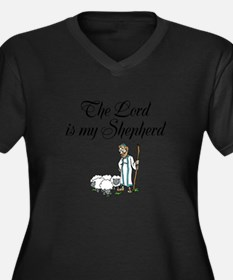 The Lord is my Shepherd Women's Plus Size V-Neck D
