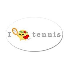 I Love Tennis 22x14 Oval Wall Peel
