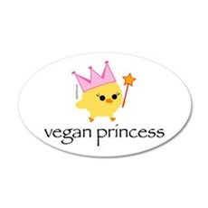 Vegan Princess 22x14 Oval Wall Peel