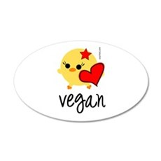 Vegan Love 22x14 Oval Wall Peel