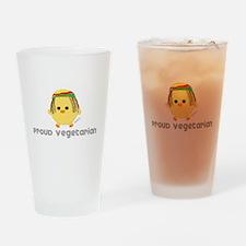 Proud Rasta Vegetarian Drinking Glass