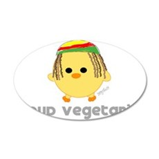 Proud Rasta Vegetarian 22x14 Oval Wall Peel