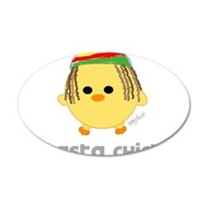 Rasta Chick 22x14 Oval Wall Peel