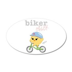 Biker Chick 22x14 Oval Wall Peel