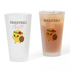 Basketball Chick Drinking Glass