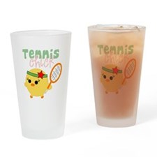 Tennis Chick Drinking Glass