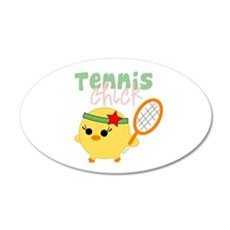 Tennis Chick 22x14 Oval Wall Peel
