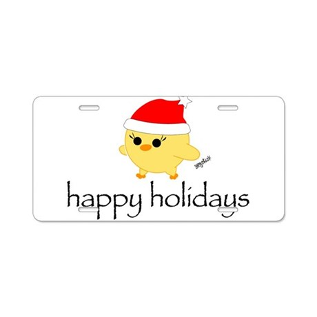 Soychick Holiday Aluminum License Plate
