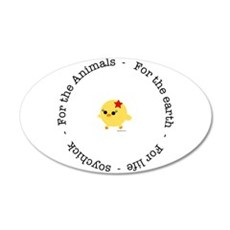 For the Animals, Earth and Li 22x14 Oval Wall Peel