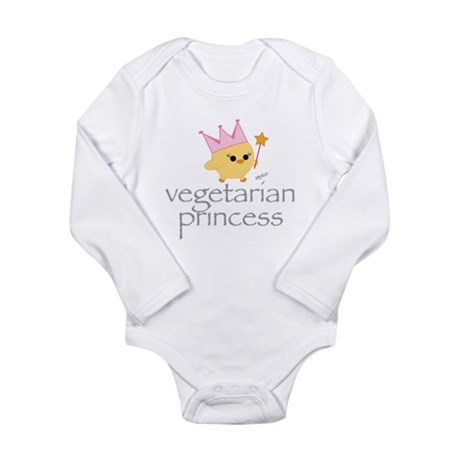 Vegetarian Princess Long Sleeve Infant Bodysuit