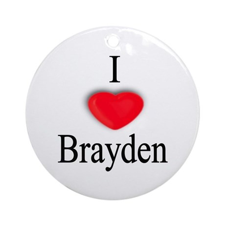 Brayden Ornament (Round)