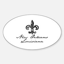 New Orleans, Louisiana Oval Decal