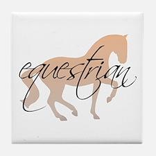 equestrian (w/ piaffe horse) Tile Coaster