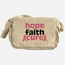 Hope Faith Cure Messenger Bag