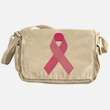 Single Pink Ribbon Messenger Bag