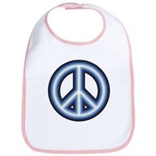 Blue Peace Symbol Bib